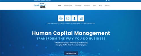 Performance HCM | Financial & B2B Services Web Design Greenville SC