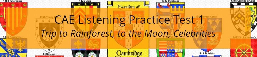 CAE Listening Practice Test 1