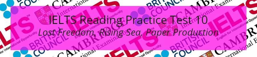 IELTS Reading Practice Test 10