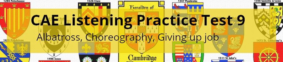 CAE Listening Practice Test 9