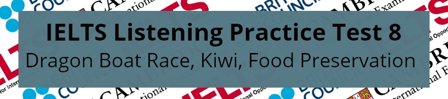 IELTS Listening Practice Test 8