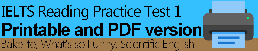 IELTS Reading Practice Test 1 Printable and PDF version