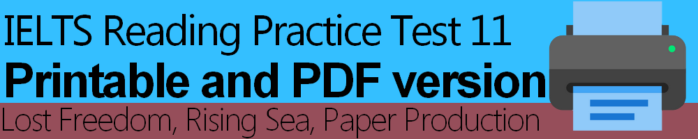 IELTS Reading Practice Test 11 Printable and PDF