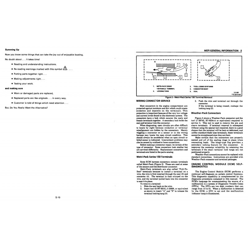 Manuel VOLVO PENTA Model NC 1996-TBI Diagnostic (4.3Gi 5