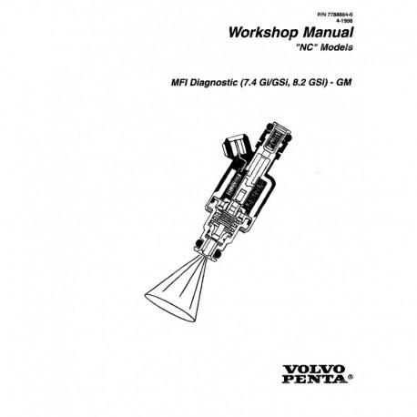 Manuel VOLVO PENTA Model NC 1996-MFI Diagnostic (7.4GI GSi