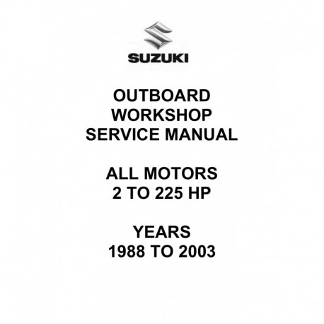 Manuel Suzuki DT 1988 2003 2 hp 225hp