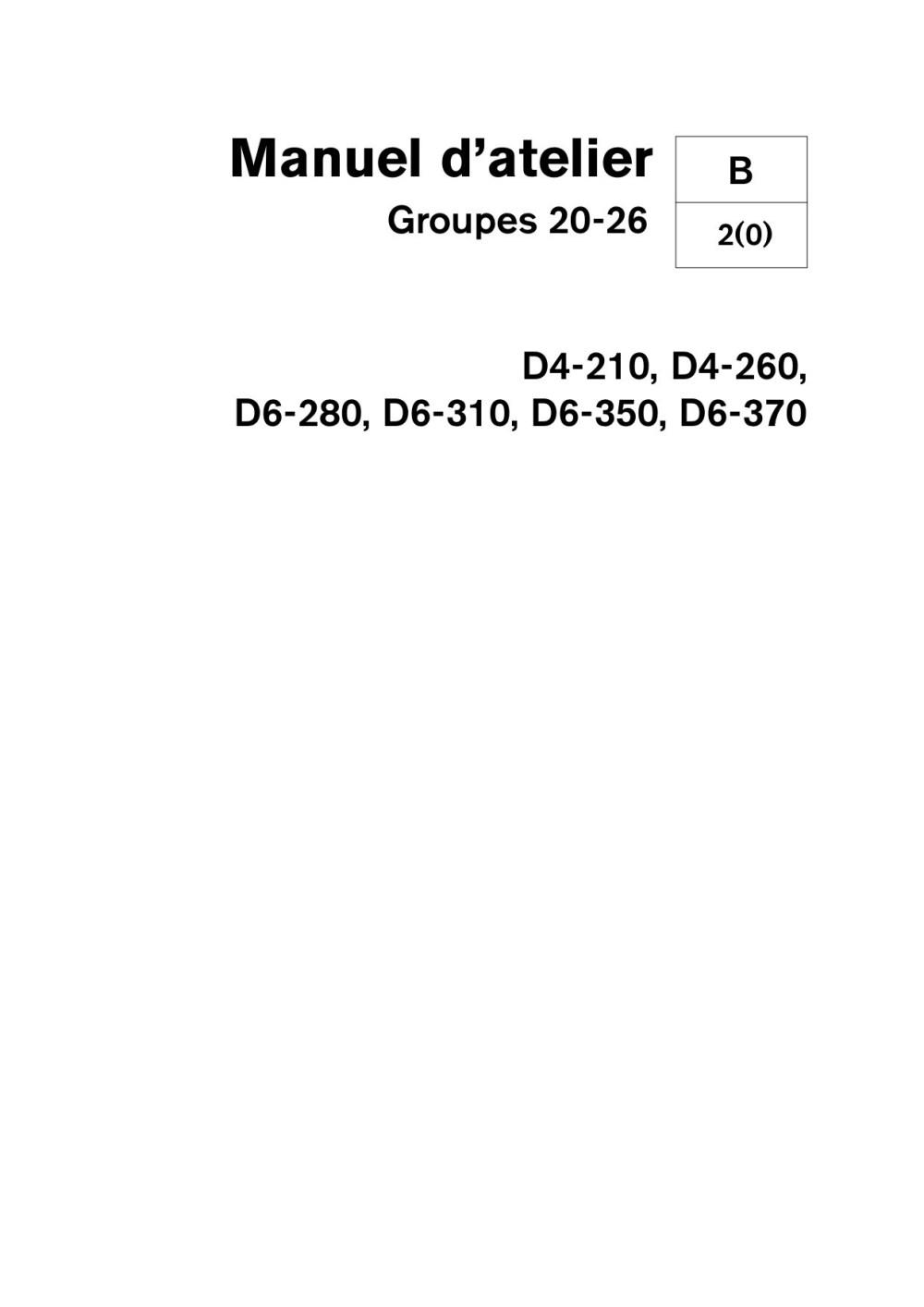 medium resolution of volvo penta diesel d4 210 d4 260 d6 280 d6 310 d6 350 d6 370 groupe 20 26 02 2006