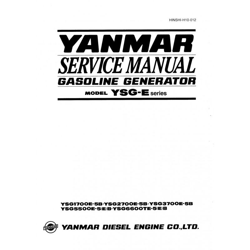 Manuel YANMAR YSG 1700 à 6600