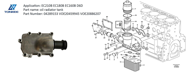 heavy equipment parts 04289153 VOE20459945 VOE20886207 oil