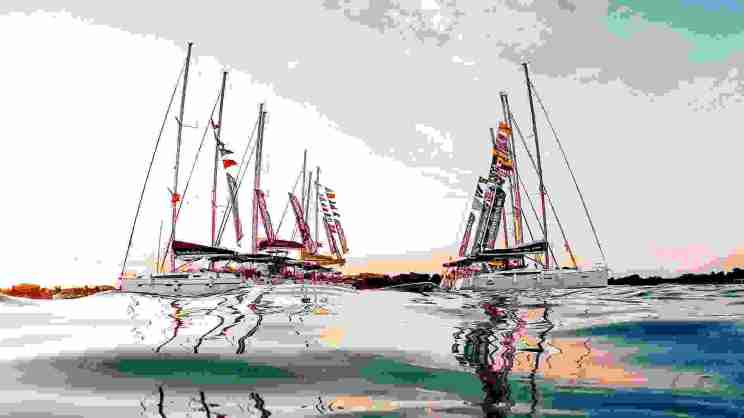 Yachts in harbor