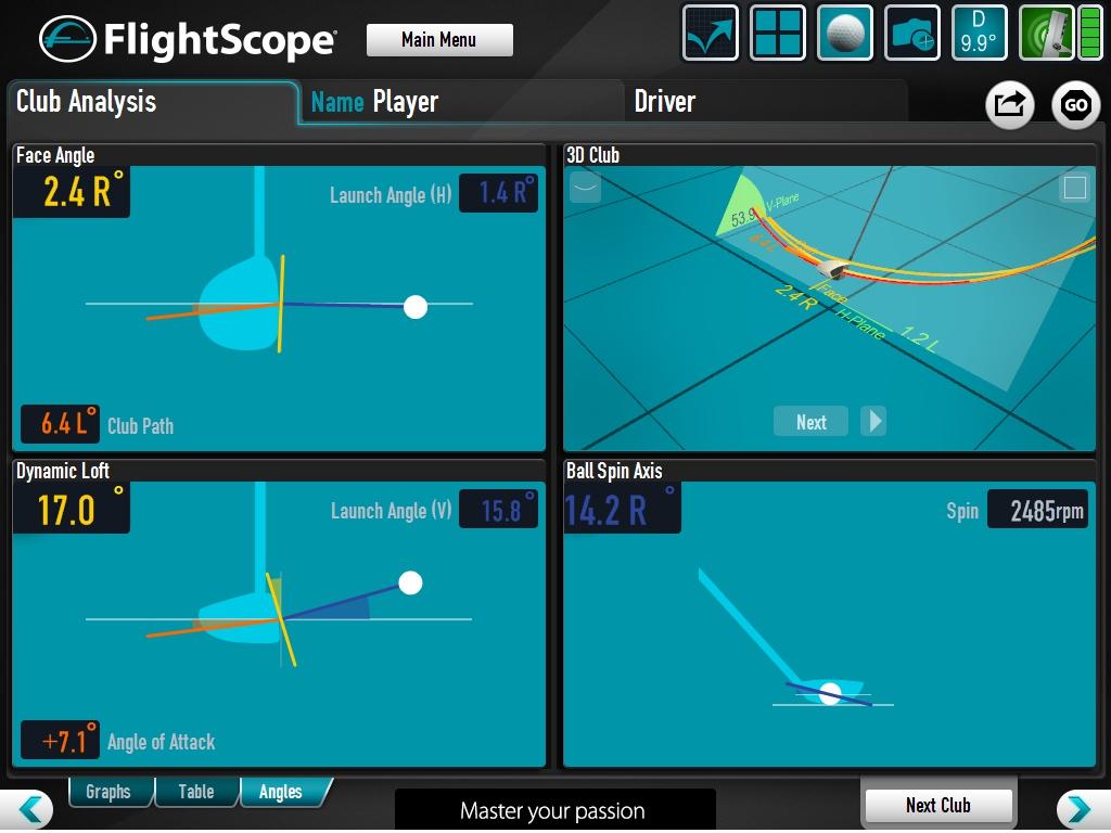 Fligthscope Club Data Output