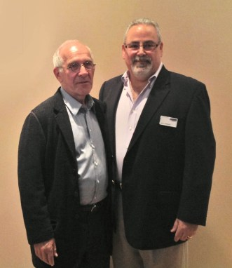 Alex Gabay with John Colleluori, AIN Plastics Yonkers Branch Manager