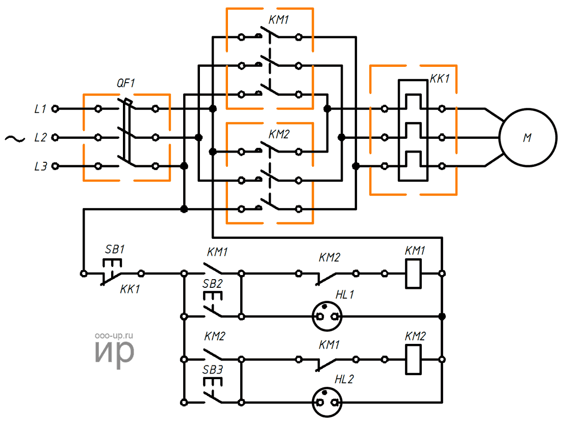 hight resolution of reversing connection a three phase induction motor to a three phase ac power grid