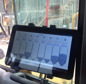 Wireless workstation in vehicle cab