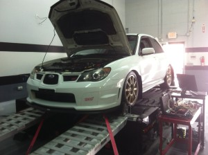 2006 STI on the dyno
