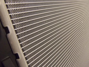 Stock E90 Radiator core closeup