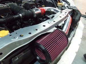 Mishimoto BRZ/FR-S intake final prototype installed