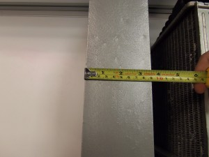 Thickness of Mishimoto prototype intercooler