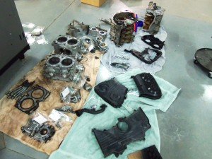 WRX engine disassembly