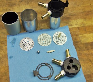 Fabricated catch can components