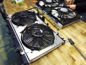 Mishimoto prototype 1 (right) fan shroud fitment