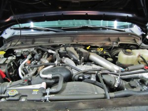 6.7L Powerstroke test vehicle engine bay