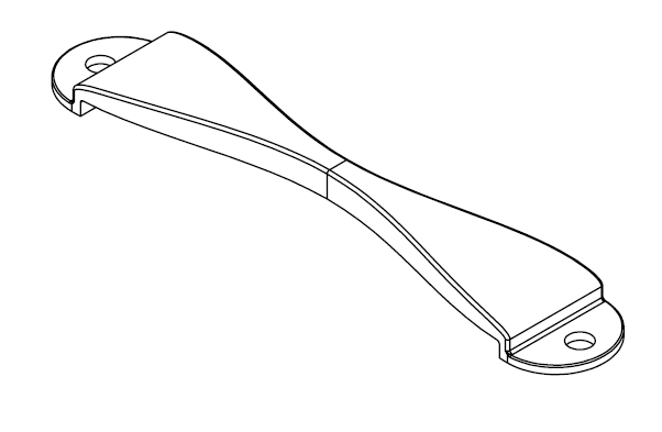 Mishimoto Subaru battery tie-down drawing