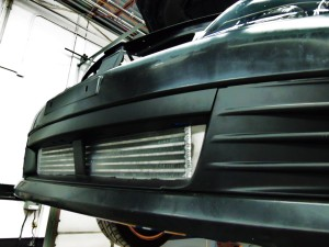 Mishimoto prototype intercooler installed on GR STI