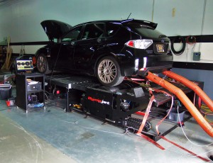 Mishimoto GR STI on the dyno