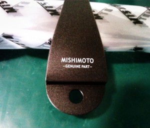 Mishimoto Subaru Battery Tie-Down Finished Product