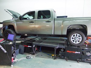 LML test truck on dyno