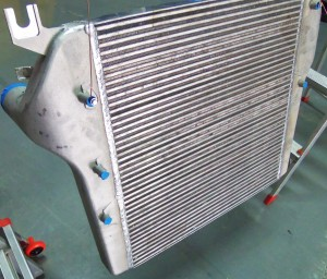Mishimoto 6.7L Cummins raw intercooler prototype