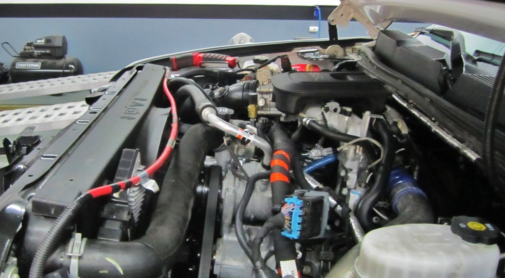 LML test vehicle engine bay