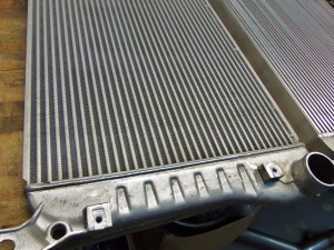 Factory LML intercooler metal hot-side end tank