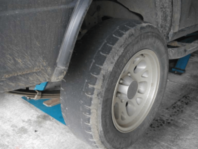 Bald tires example