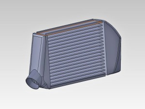 Stock intercooler 3D model