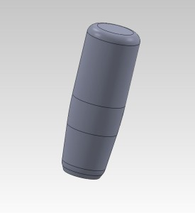 The cylindrical design that was decided on for Ryan's signature shift knob.