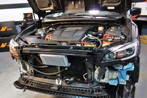 Intercooler crash beam mounting plates