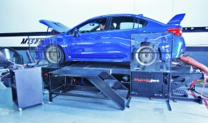 2015 STI on the dyno