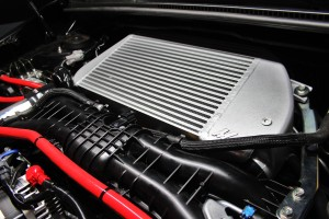 Mishimoto prototype intercooler installed