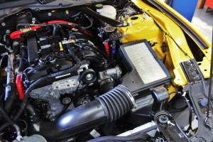 EcoBoost Mustang stock intake system