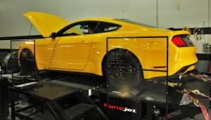 2015 Mustang EcoBoost on the dynamometer