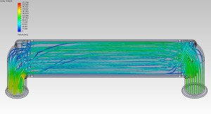 CFD of air dispersion in Mishimoto prototype intercooler with a diverter