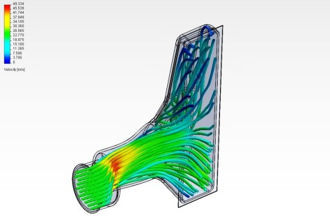 Intercooler CFD analysis example