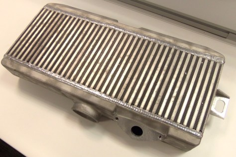 Raw aluminum intercooler