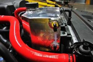 Mishimoto expansion tank prototype, fluid-level indicator