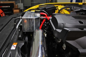 Mishimoto expansion tank prototype installed