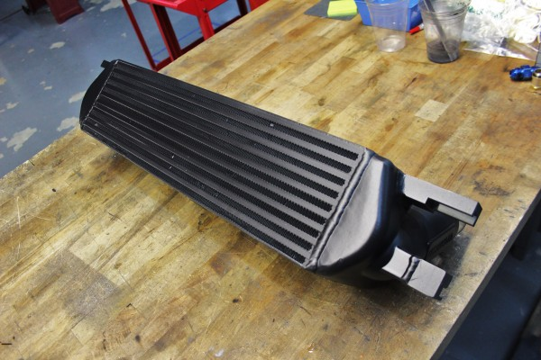 Painted Mishimoto 2015 Mustang EcoBoost Intercooler