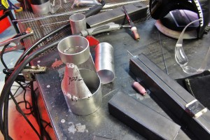 Inlet tube fabrication