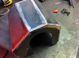 Final prototype BMW F30 air intake airbox lid
